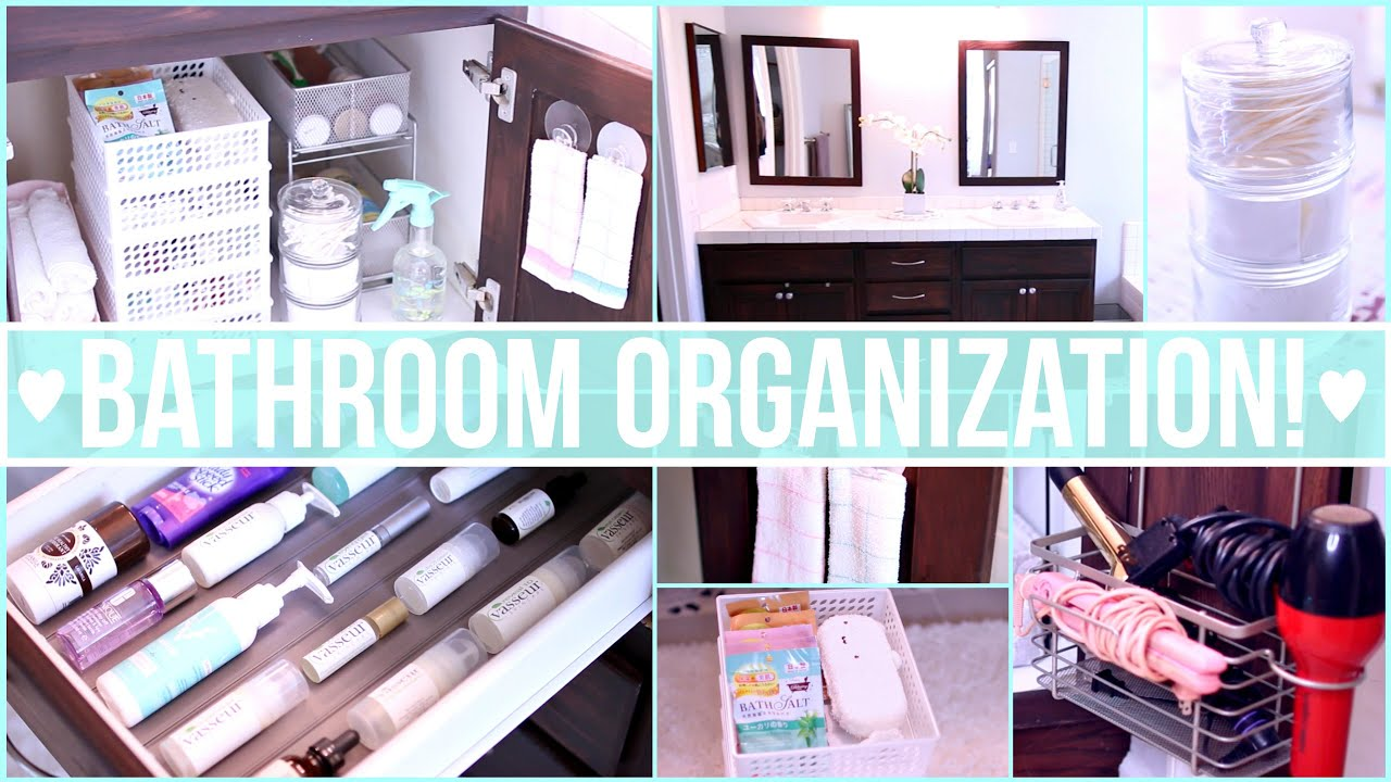 bathroom organization ideas ♡ dollar store organization - youtube