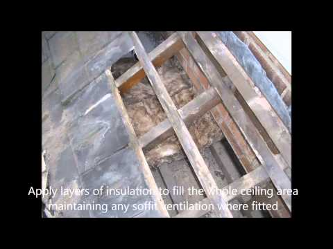 How to insulate an inaccessible roof void