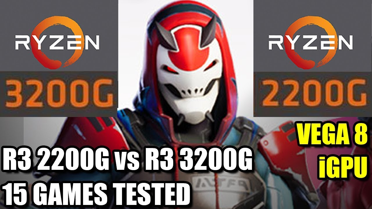 Ryzen 3 3200G vs 2200G - 15 Games Tested - Vega 8 iGPU - Integrated  Graphics APU Comparison