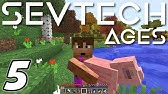 Minecraft Sevtech: Ages - LEATHER, THATCH and TEEPEE (Modded