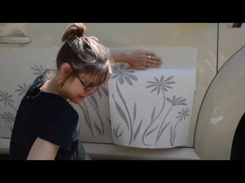 Installing Tonyabug Daisy Decals on Volkswagen Beetle Side Panel