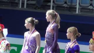 FGP Sochi 2012 Junior Ladies medal ceremony (RADIONOVA MILLER POGORILAYA)