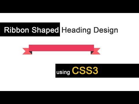 CSS3 Ribbon Shaped Heading Design | csPoint web designing tutorials thumbnail