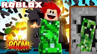 WE TURN CREEPER EXPLOSIVES FROM MINECRAFT INTO ROBLOX