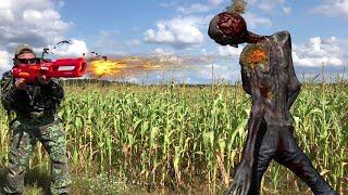 Nerf war зомби напали на деревню! Нерф война против зомби топ 5  Nerf Show