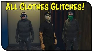 GTA 5 Online - ALL CLOTHES GLITCHES AFTER PATCH 1.28! (Hat/Glasses w/ Mask, Pilot Headset & More)
