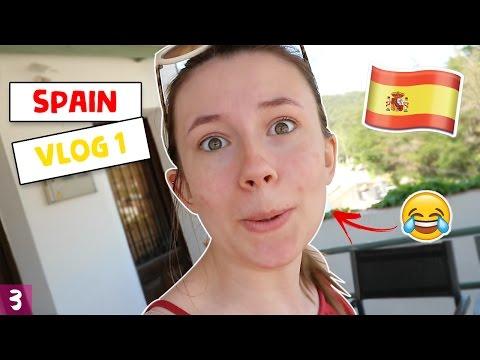 SUNBURNT ALREADY?! - Spain Vlog 1