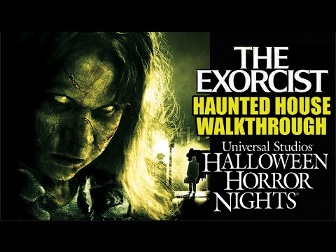 the exorcist haunted house maze walkthrough halloween horror nights universal hollywood 2016 youtube