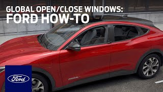 homepage tile video photo for Ford Mustang Mach-E: Global Open/Close Windows   Ford How-To   Ford