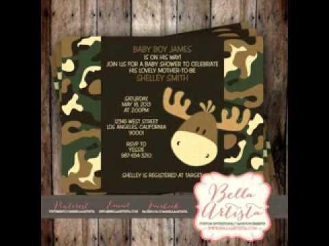 Camouflage baby shower decoration ideas
