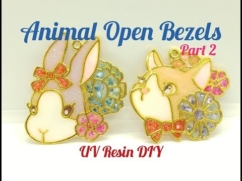 UV Resin DIY Animal Open Bezels Part 2