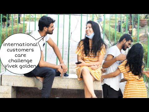 International customer care challenge except कर लो मै तुम्हारी twisted prank | Vivek golden
