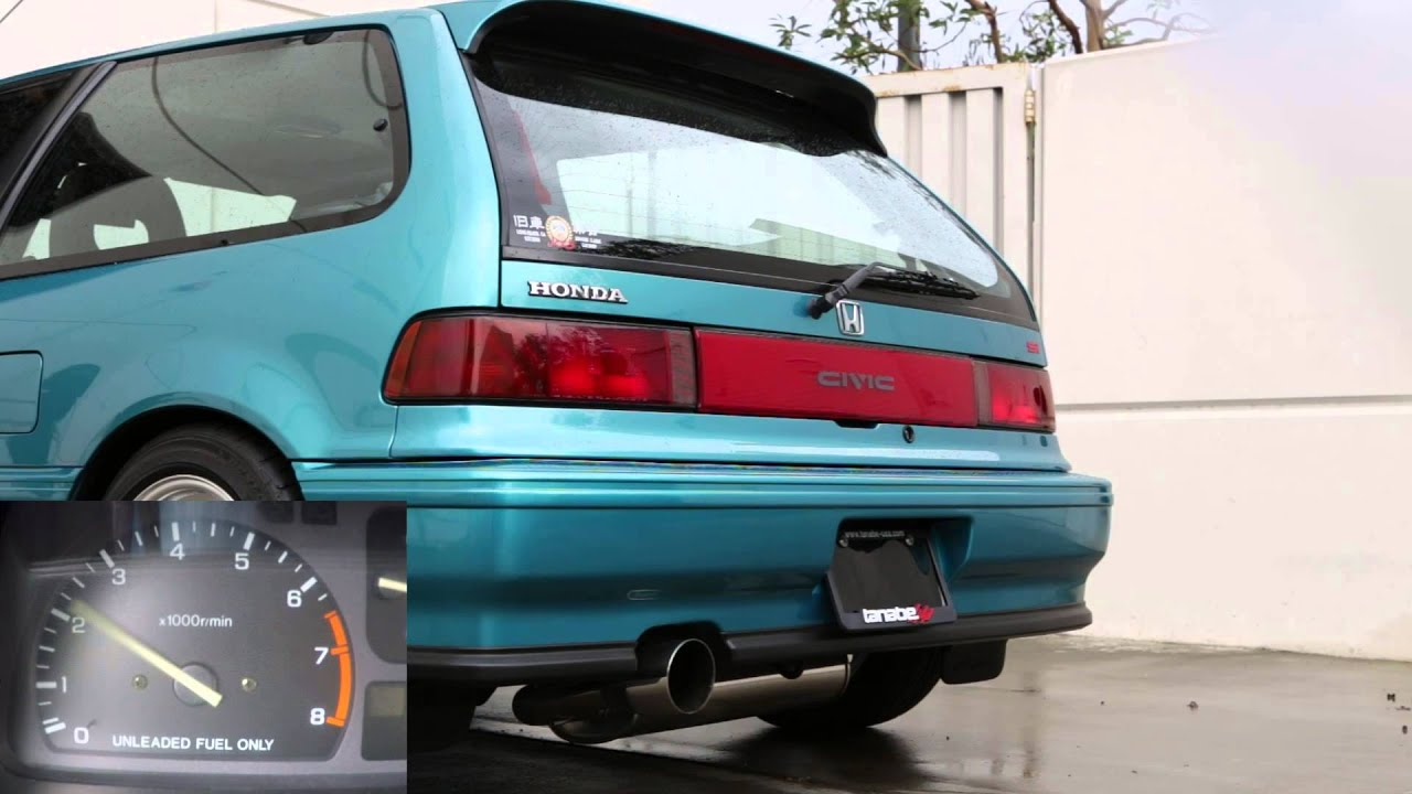 tanabe touring medalion exhaust for 1988 1991 honda civic ef