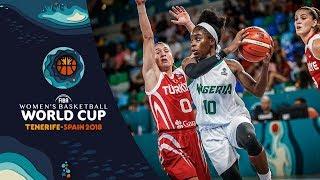 Nigeria v Turkey - Highlights - FIBA Women's Basketball World Cup 2018