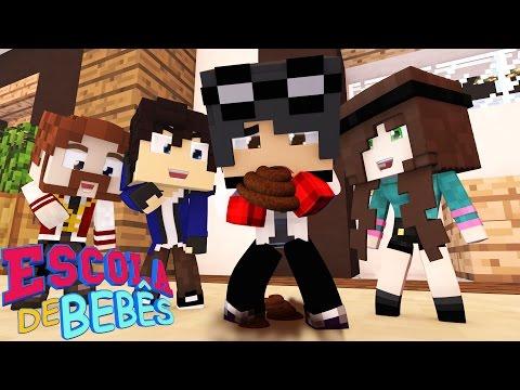 Minecraft : ESCOLA DE BEBÊS ( Baby School Daycare) - BEBÊ WIIZINHO COMEU COCÔ !!