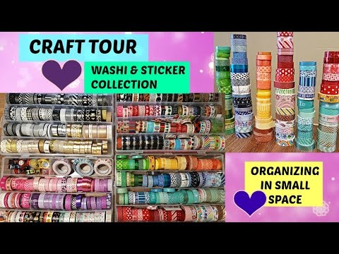Craft Tour Organization & Storage | Washi & Sticker Collection | How To Organize On Small Space