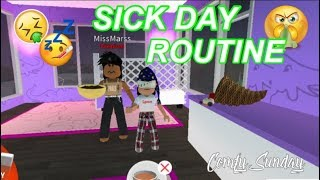 Roblox Bloxburg| Mom & Baby Sick Day Routine