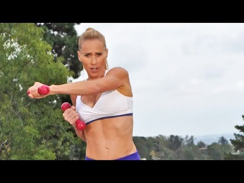 20 Min Fat Burning Cardio Sculpt with weights | Abs Abs Legs