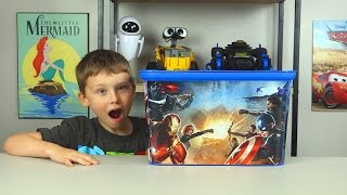 HUGE Avengers Captain America Surprise Toy Box Yo-Kai Watch Toy Cars Spiderman Toys Kinder Playtime