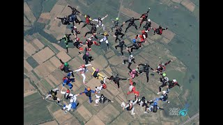 European Head Up Freefly Record 43 Way, Fly Warriors Team, Skydive Empuriabrava, June 2017