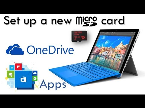 Set Up a New MicroSD on Surface Pro 4 , Pro 3, or 3 : Using it for  OneDrive, Apps, and More!