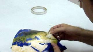 Papercraft Planet Model - Taping