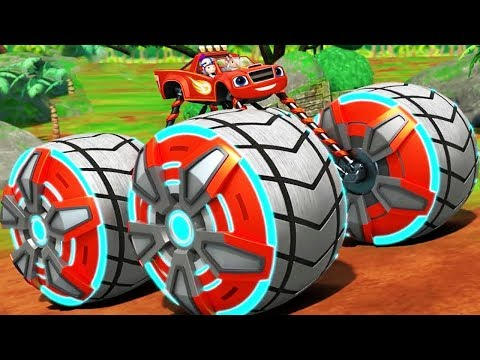 Blaze Power Tires - Blaze & the Monster Machines Transformer Into Falcon - Nickelodeon Kids Games