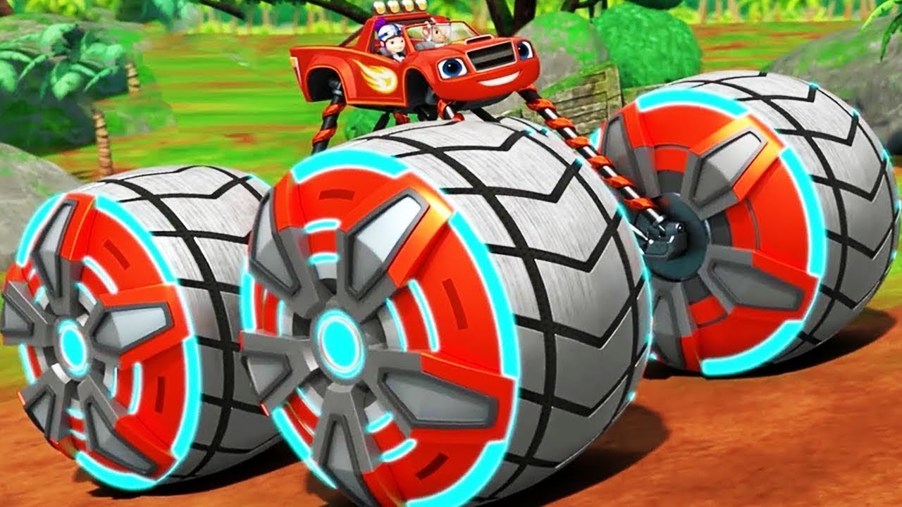 Blaze Power Tires Blaze The Monster Machines Transformer Into