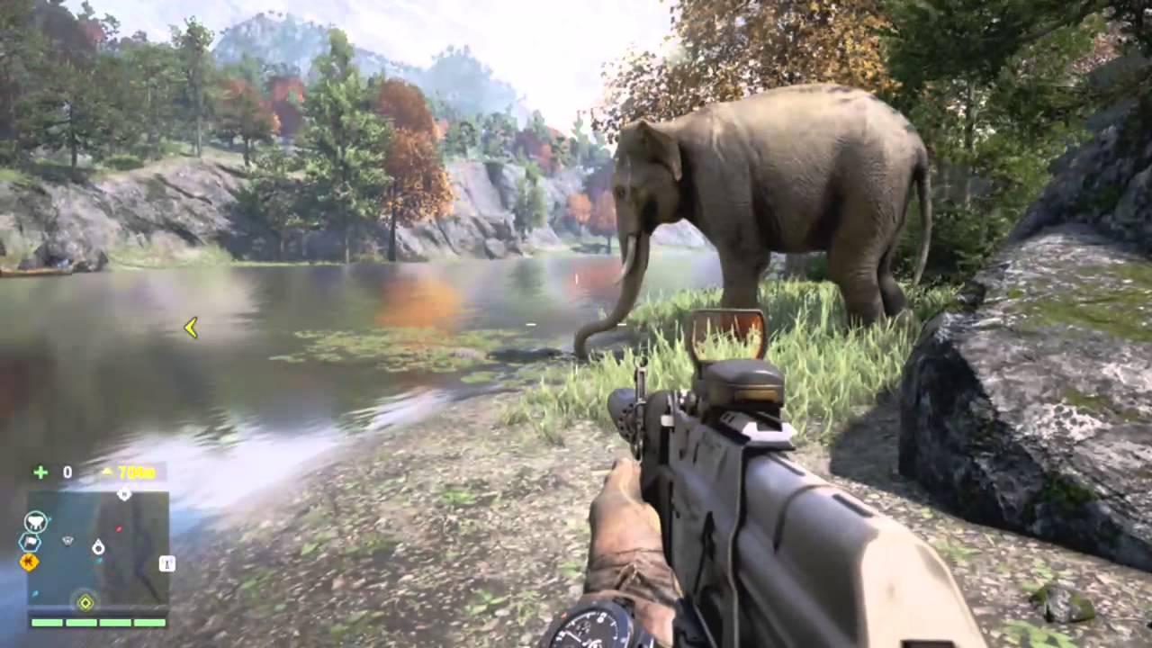 Far Cry 4 Wallpaper Elephant: Elephant Vs Crocodile