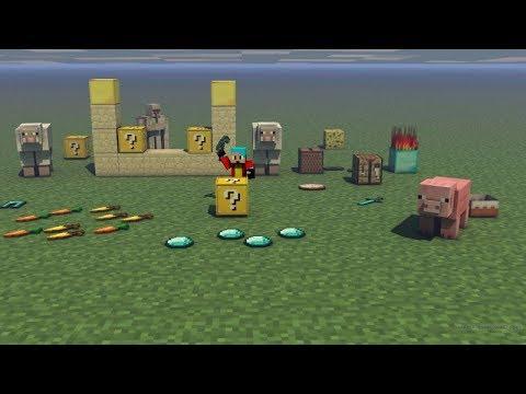 Как с помощью командного блока сделать лаки блоки 72