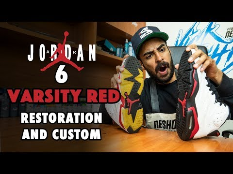 Air Jordan 6 Varsity Red Restoration and Chicago Custom by Vick Almighty