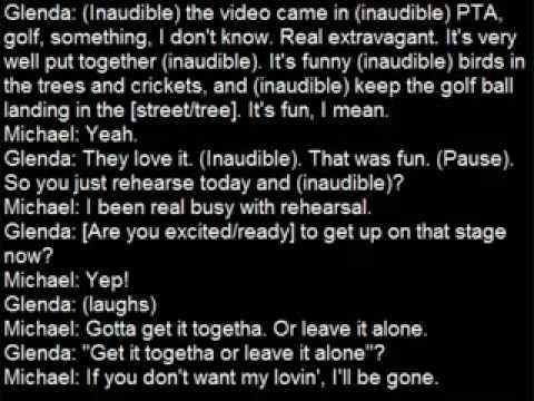 Michael Jackson's Secret Phone Conversation Pt 1