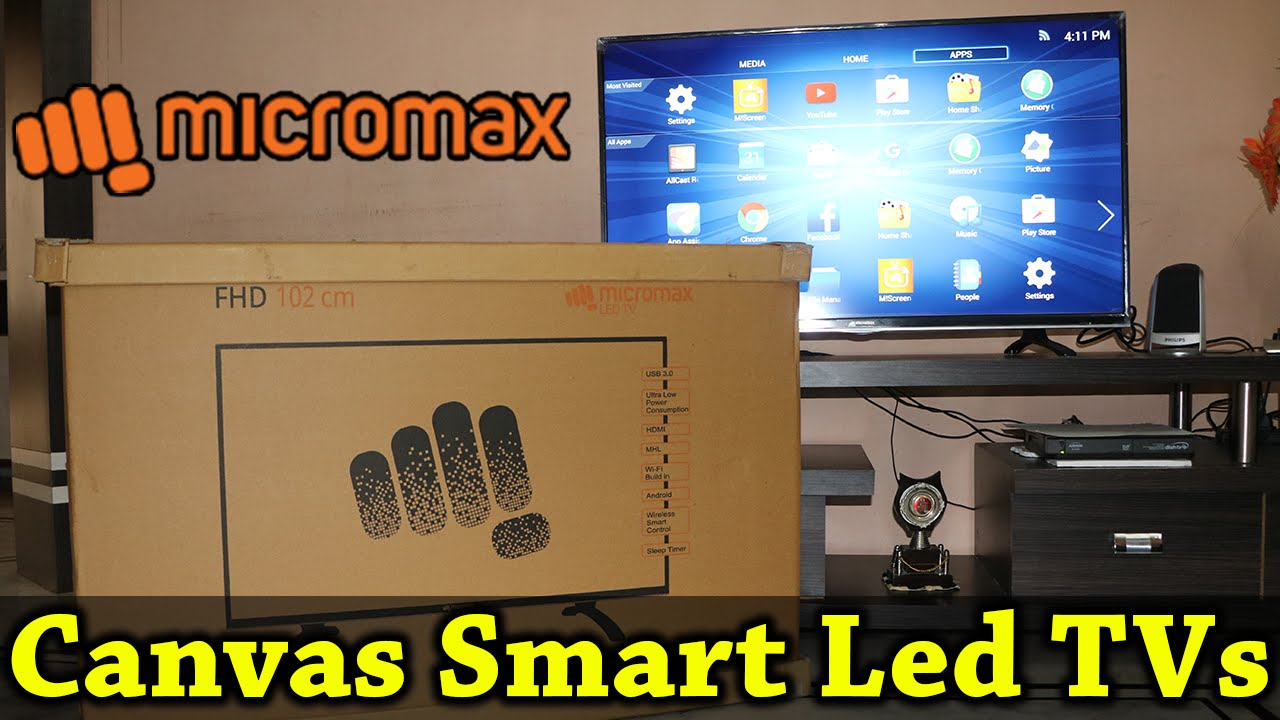3896d87eee3 Micromax Canvas-S Full HD Smart LED TV   Full Review - YouTube
