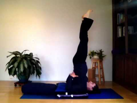 slow motion plow to shoulder stand  youtube