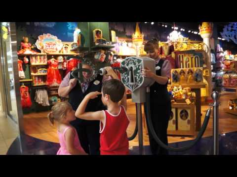 Opening the Disney Store at the mall