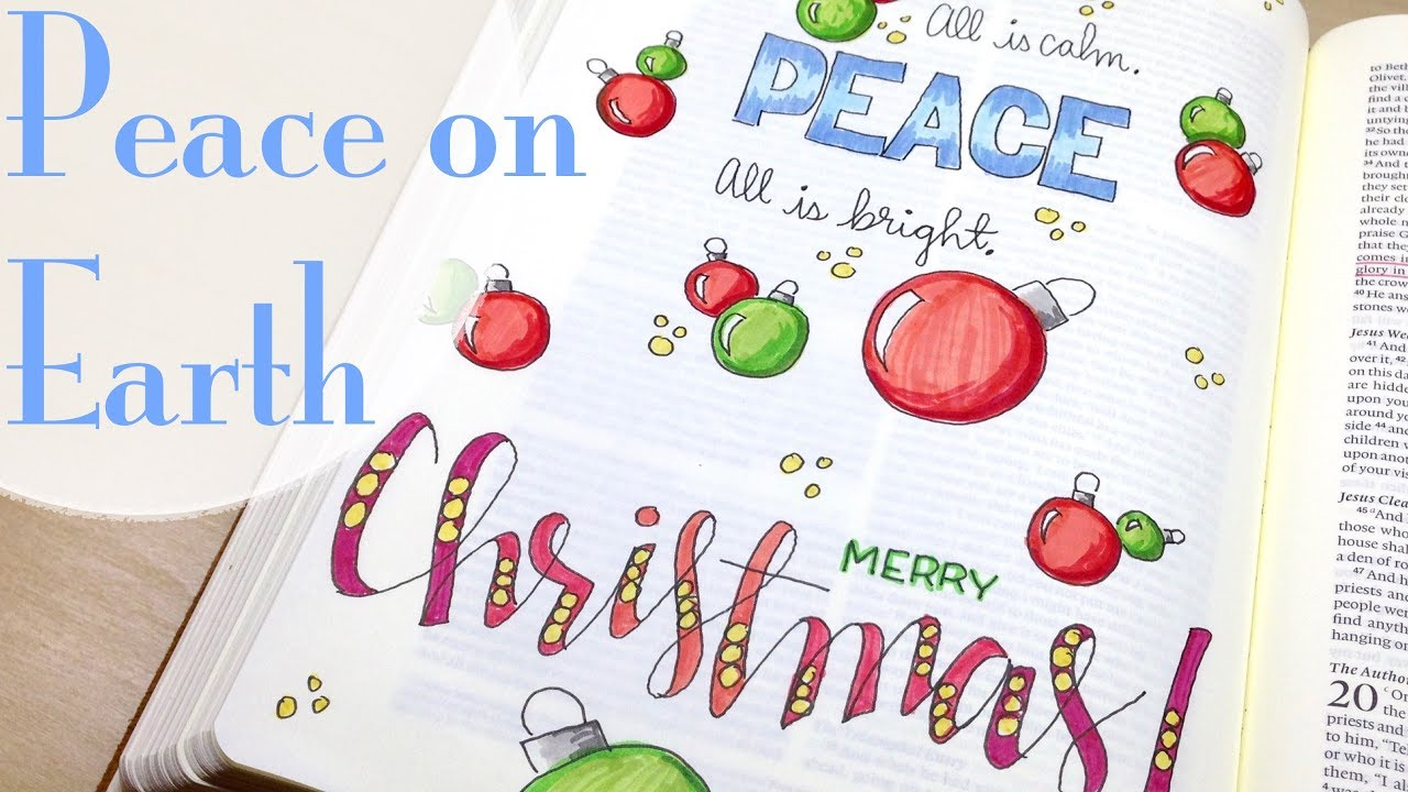 Christmas Bible Journaling: Peace (Luke 19) - YouTube