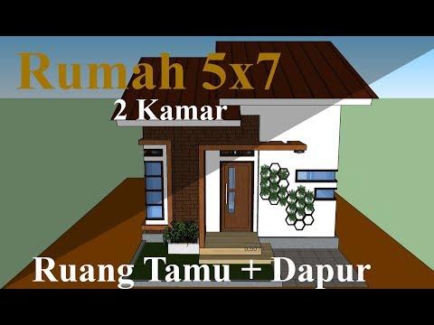 rumah ukuran 5x7 2 lantai