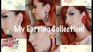 My Earring Collection: A Vintage Style Earring Haul by CHERRY DOLLFACE Thumbnail