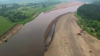 Полет по Енисейскому району. Озерное, Монастырское озеро, Плотбище, Енисейск. Видео с квадрокоптера.
