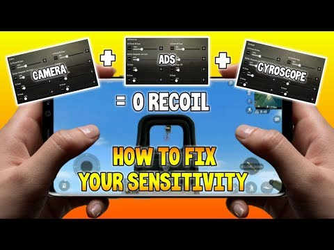 HOW TO FIX YOUR SENSITIVITY ON PUBG MOBILE   CAMERA + ADS + GYROSCOPE = 0 RECOIL
