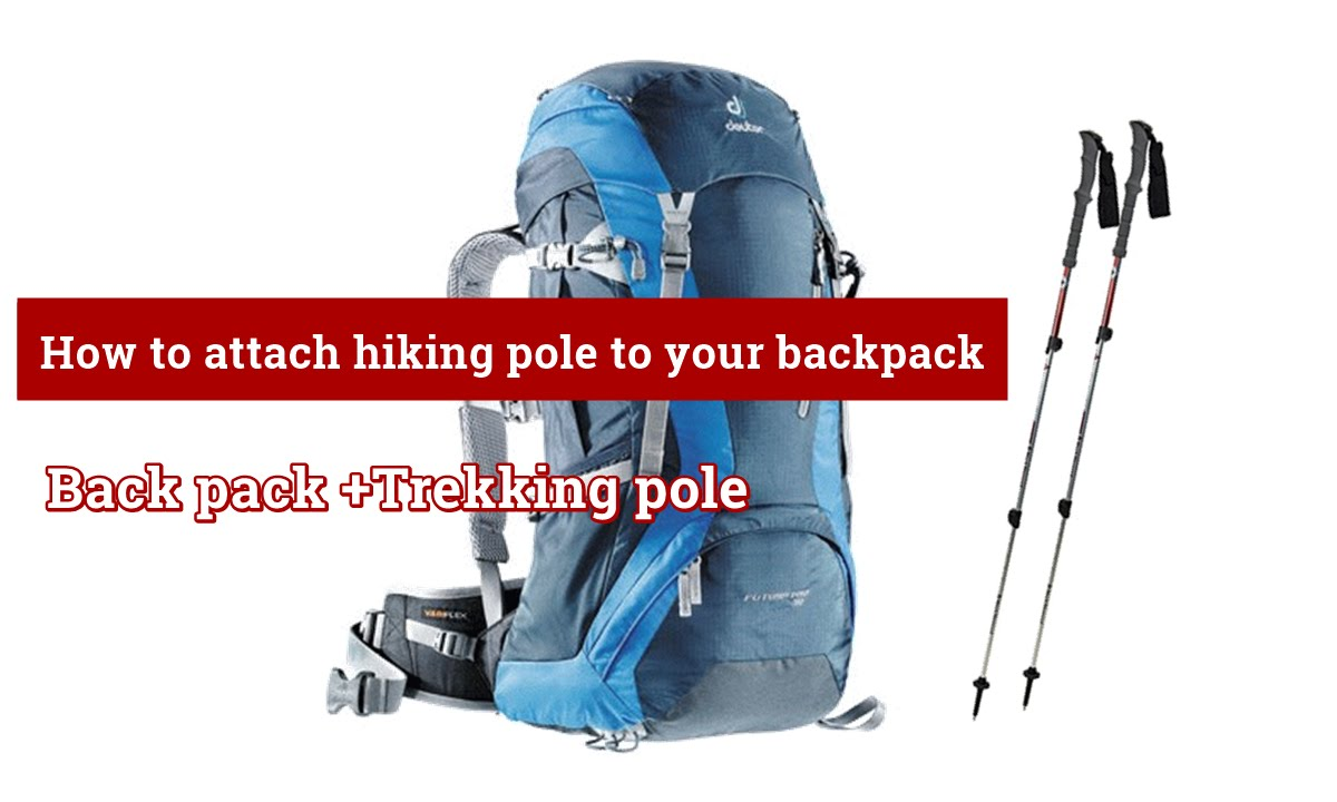 How To Attach Hiking Pole To Your Backpack   YouTube