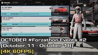 Forza Motorsport 7 - October #Forzathon Events #2 (October 11 - October 18) [4K 60FPS]