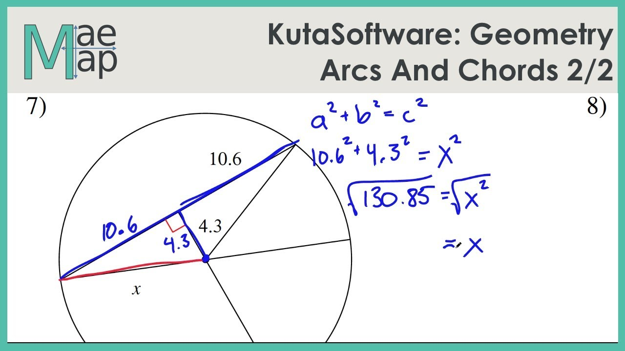 KutaSoftware: Geometry- Arcs And Chords Part 2