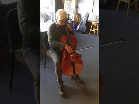 Cello at Tulsa violin shop