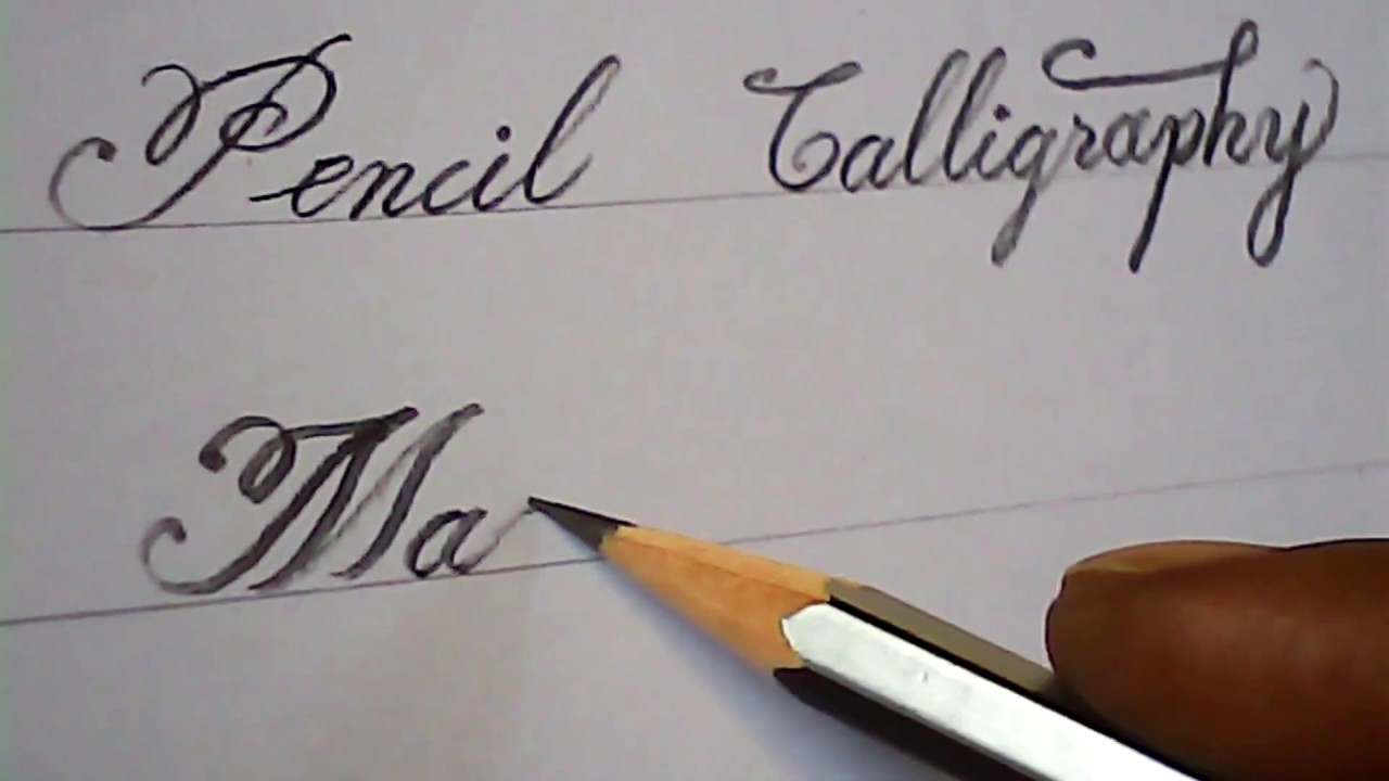 Pencil Calligraphy | Lettering | Writing Practice | Mazic ...