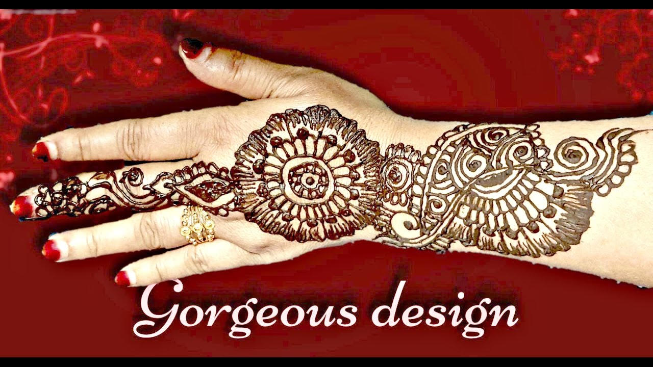 Tutorial 15 Simple Mehndi Designs For Left Hand Palm For Beginners