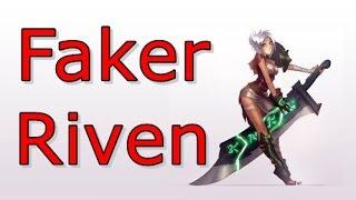 LOL Pro - Faker (Riven vs Zac) - Korea SoloQ (Full game)