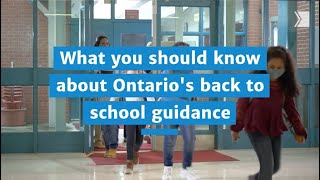 Masks on, schools told for September as long-awaited provincial guidance unveiled
