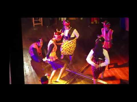 Bamboo dance performed by students of Holy Angles` School in annual function