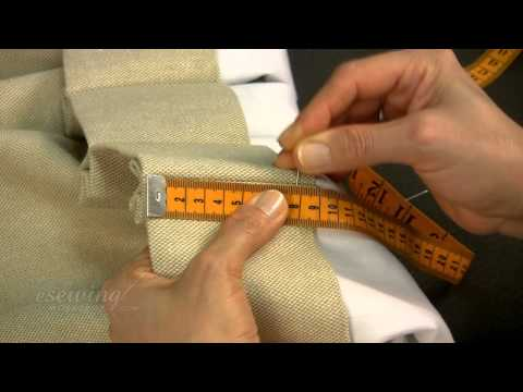 Inserting the Pin Hooks for Pinch Pleat Curtains Hung on Traverse a Rod (FREE SAMPLE)